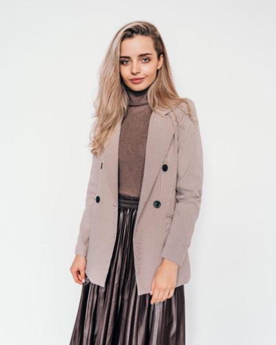 Пиджак с принтом гусиная лапка