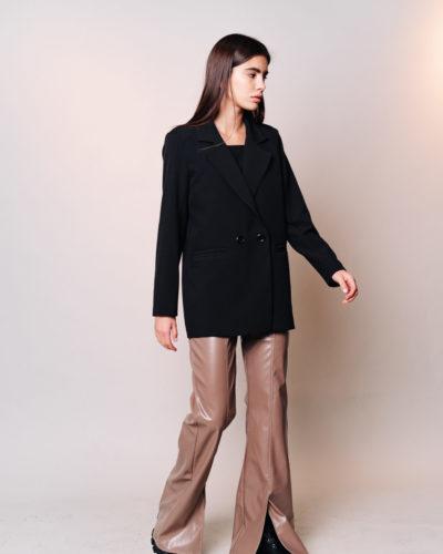 Пиджак прямого кроя черного цвета