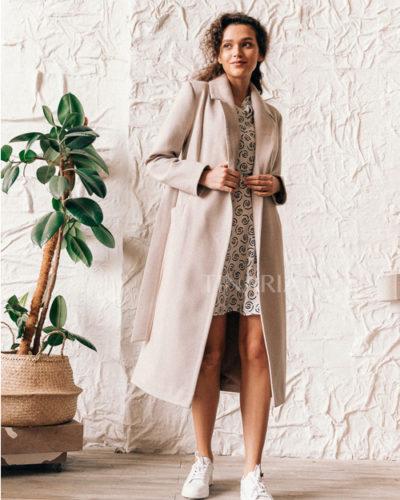 Пальто-халат в цвете молочная диагональ 115 см